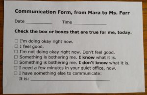 Communication Form Example